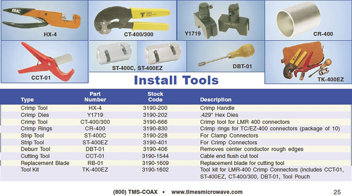 EZ400 Tools catalog page